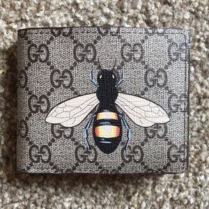 Gucci Wallet w bee print